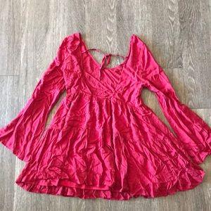 Tobi Dresses - Tobi red flowy dress